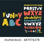 vector set alphabets. cute... | Shutterstock .eps vector #687476278