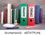compliance and regulations.... | Shutterstock . vector #687479146