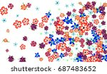 floral pattern for brochure ... | Shutterstock .eps vector #687483652