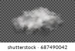 realistic cloud on transparent... | Shutterstock .eps vector #687490042