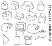 vector set of tissue paper | Shutterstock .eps vector #687494116