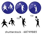 basketball. vector icon set. | Shutterstock .eps vector #68749885
