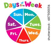 titles of days of the week... | Shutterstock .eps vector #687500056