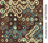 seamless geometric pattern with ... | Shutterstock .eps vector #687505006