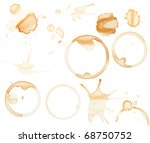 Coffee stains and splatters design pack