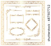 golden ornamental decoration... | Shutterstock . vector #687507712