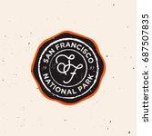 outdoor badge. exploring  ... | Shutterstock .eps vector #687507835