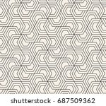 pattern with hexagonal elements.... | Shutterstock . vector #687509362