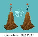 business concept. successful... | Shutterstock .eps vector #687511822
