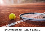tennis game. tennis ball with... | Shutterstock . vector #687512512