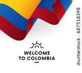 welcome to colombia. colombia... | Shutterstock .eps vector #687518398