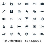 vector illustration set of... | Shutterstock .eps vector #687520036