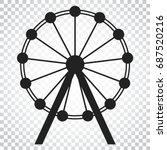 ferris wheel vector icon.... | Shutterstock .eps vector #687520216