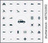 vector illustration set of... | Shutterstock .eps vector #687521002