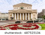 bolshoi theater in moscow ... | Shutterstock . vector #687525136