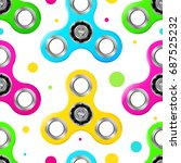seamless pattern with bright... | Shutterstock .eps vector #687525232