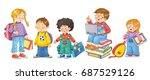 back to school. cute... | Shutterstock . vector #687529126
