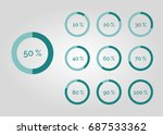 percentage infographic  | Shutterstock .eps vector #687533362