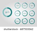 percentage infographic  | Shutterstock .eps vector #687533362