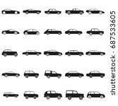 ser cars   black vector icon | Shutterstock .eps vector #687533605