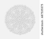 openwork mandala for design.... | Shutterstock .eps vector #687535375