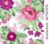 floral pattern. flower bouquet... | Shutterstock .eps vector #687537076