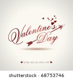 valentine text with arrow | Shutterstock .eps vector #68753746