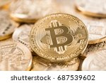 bitcoin gold coin.... | Shutterstock . vector #687539602