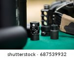 silencers for weapons | Shutterstock . vector #687539932