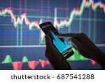 businessman checking stock... | Shutterstock . vector #687541288