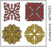 a set of celtic ornamental... | Shutterstock .eps vector #68754253