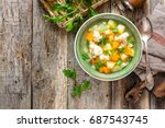 vegetable soup | Shutterstock . vector #687543745