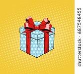 gift box. illustration in pop...   Shutterstock .eps vector #687548455