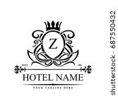 luxury logo template in vector... | Shutterstock .eps vector #687550432