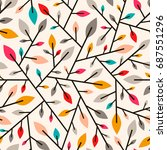 seamless geometric pattern of... | Shutterstock .eps vector #687551296