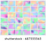 holographic background. smooth... | Shutterstock .eps vector #687555565