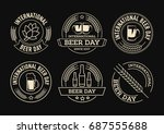 international beer day  beer... | Shutterstock .eps vector #687555688