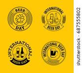 international beer day  beer... | Shutterstock .eps vector #687555802