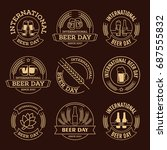 international beer day  beer... | Shutterstock .eps vector #687555832