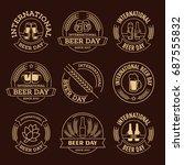 international beer day  beer... | Shutterstock .eps vector #687555832