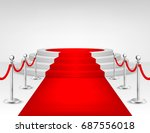 realistic vector red event... | Shutterstock .eps vector #687556018