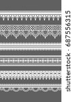 lace borders. vector seamless... | Shutterstock .eps vector #687556315