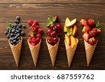 Fresh Fruit And Berries In...