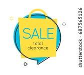 flat speech bubble shape.... | Shutterstock .eps vector #687565126