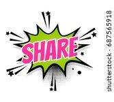 lettering share link boom star. ... | Shutterstock .eps vector #687565918