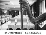 harp at wedding ceremony | Shutterstock . vector #687566038