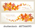 Two Abstract Autumn Banners...