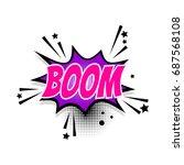 lettering boom wow star. comics ... | Shutterstock .eps vector #687568108