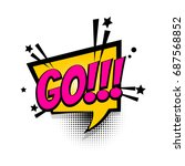 lettering go  do it star. pop... | Shutterstock .eps vector #687568852