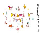pajama party | Shutterstock .eps vector #687570382